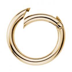 Taschenring Taschenverschluss Karabiner 5mm gold