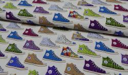 Bedruckter Baumwoll Canvas Meterware Stoff Schuhe