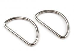 D-Ring Halbrundring für Taschen 40mm silber