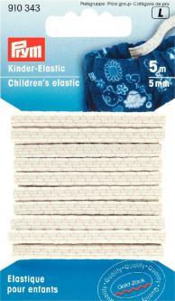 PRYM Gummiband SB - Kinder Elastic 5mm / weiß