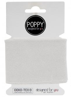 Cuff Poppy - Fertigbündchen Uni - weiss 501 - weiss