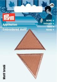 PRYM Applikation Dreiecke klein, dunkelbeige