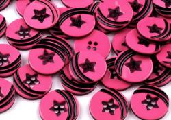 Blusenknopf One Star pink 15mm
