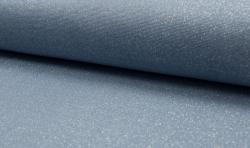 Bündchenstoff Glamour mit Lurex Jeansblau