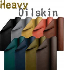 Heavy Oilskin Stoff - gewachste Baumwolle Meterware