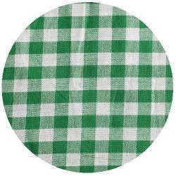 10mm Baumwollstoff große vichy Karo grün