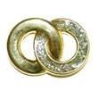 Knopf Schlinge gold mit Glitter 20mm
