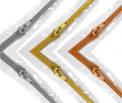 TRANSPARENTER - Spirale Metallisierter Reißverschluss Meterware endlos