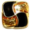 Fashion Knopf 18mm echt vergoldet rechteckig