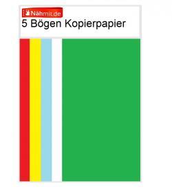Kopierpapier Schnittmusterpapier 5 Farbig