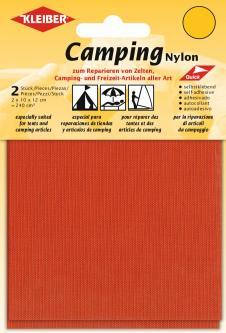 Kleiber Camping Nylon Flicken selbstklebend blutorange
