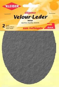 Kleiber Flicken Velourleder imitat 2St. grau