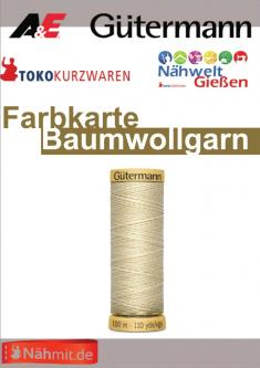 Gütermann - Nähmit Baumwoll Nähgarn Farbkarte