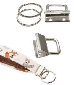 Schlüsselband Rohlinge 25mm Ø mit Schlüsselring