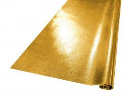 ZUSCHNITT SHINY Kunstleder 70x50cm gold Glattleder