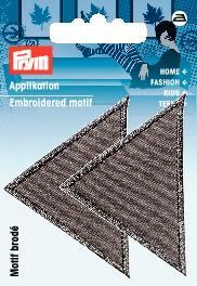 PRYM Applikation Dreiecke groß grau