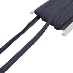 Elastisches Einfassband mit Bogenkante - dunkelgrau