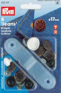 PRYM NF-Jeans-Knöpfe Lorbeerkranz MS 17 mm altkupfer