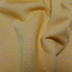 Baumwoll LUREX Sweatshirt Stoff - Ocker