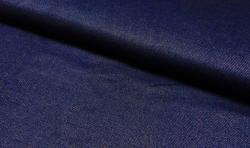 Jeans look Baumwoll Jersey Stoff - Dunkelblau 170cm breit