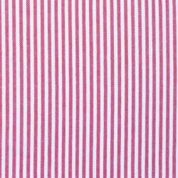 Baumwoll Jeans Stoff schmal gestreift Rot