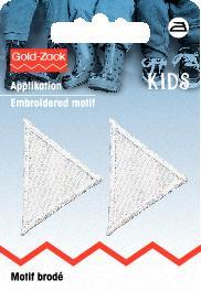 PRYM Applikation Dreiecke klein, weiß