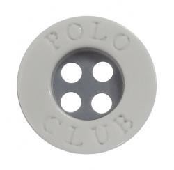 Kunststoff Polo Club Hemdenknopf weiss 11mm