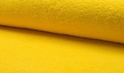 Baumwoll Frottee / Bademantel Stoff 150cm breit gelb