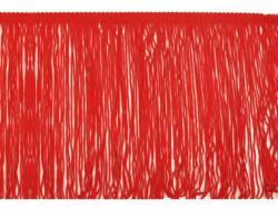 Fransen Borte 20cm lang rot