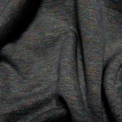 Baumwoll LUREX Sweatshirt Stoff - dunkelblau
