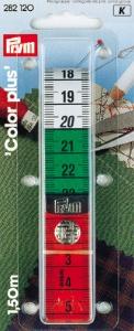 PRYM Maßband Color Plus mit Knopf 150 cm / cm