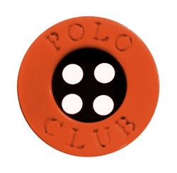 Kunststoff Polo Club Hemdenknopf orange 11mm