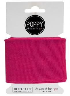 Cuff Poppy - Fertigbündchen Uni - fuchsia