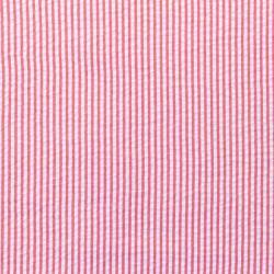 Baumwoll Stoff Seersucker Streifen Uni Rot