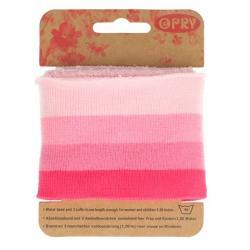 Cuff Opry - Fertigbündchen Streifen rosatöne 100cm