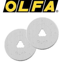 2 OLFA Ersatzklinge für Rollschneider 18mm