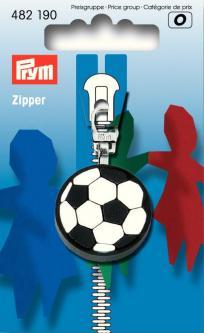 PRYM Fashion-Zipper für Kinder Fussball schwarz/weiß