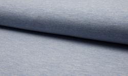 Baumwoll Jogging Sweatshirt Stoff - blau mellange