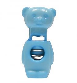 Teddybär Kordelstopper hellblau