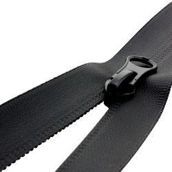 Wasserdichter Spiral Kunststoff Reißverschluss teilbar / schwarz