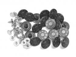 100 Jeansknöpfe 17mm antiksilber