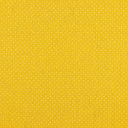 Beschichtete Baumwoll Stoff kleine Tupfen - gelb