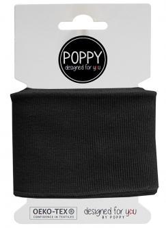 Cuff Poppy - Fertigbündchen Uni - schwarz 580 - schwarz