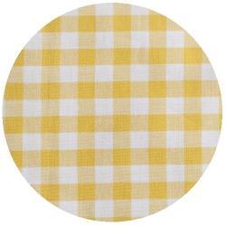 2mm Baumwollstoff kleine vichy Karo gelb