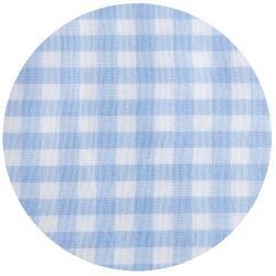 2mm Baumwollstoff kleine vichy Karo hellblau