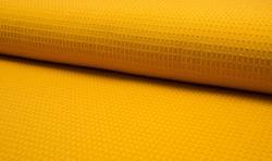 Waffel Piqué Baumwoll Stoff Meterware Gelb