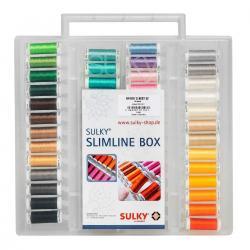 SULKY Stickgarn Set + SLIMLINE BOX, RAYON´s BEST 52