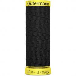 Gütermann Elasticfaden 10m Farbe: Schwarz - 4017 580 - schwarz