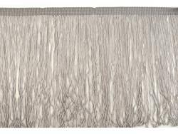Fransen Borte 20cm lang grau