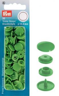 PRYM Color Snaps Druckknöpfe rund 12,4 mm hellgrün